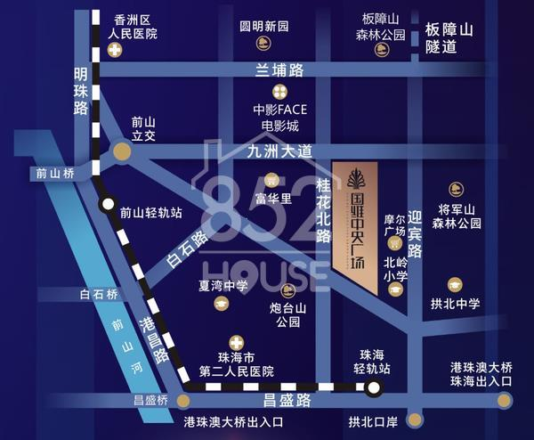 國維中央廣場位置圖