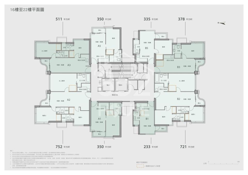 16樓至22樓