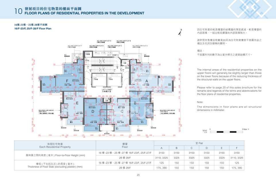 16樓至28樓平面圖