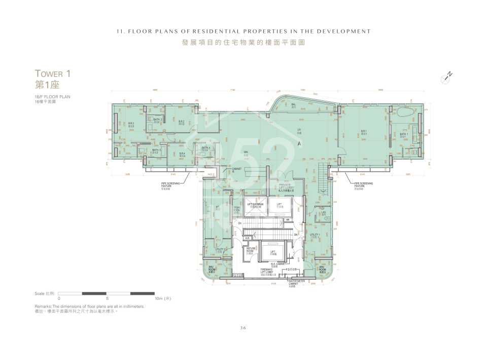 第1座16樓平面圖