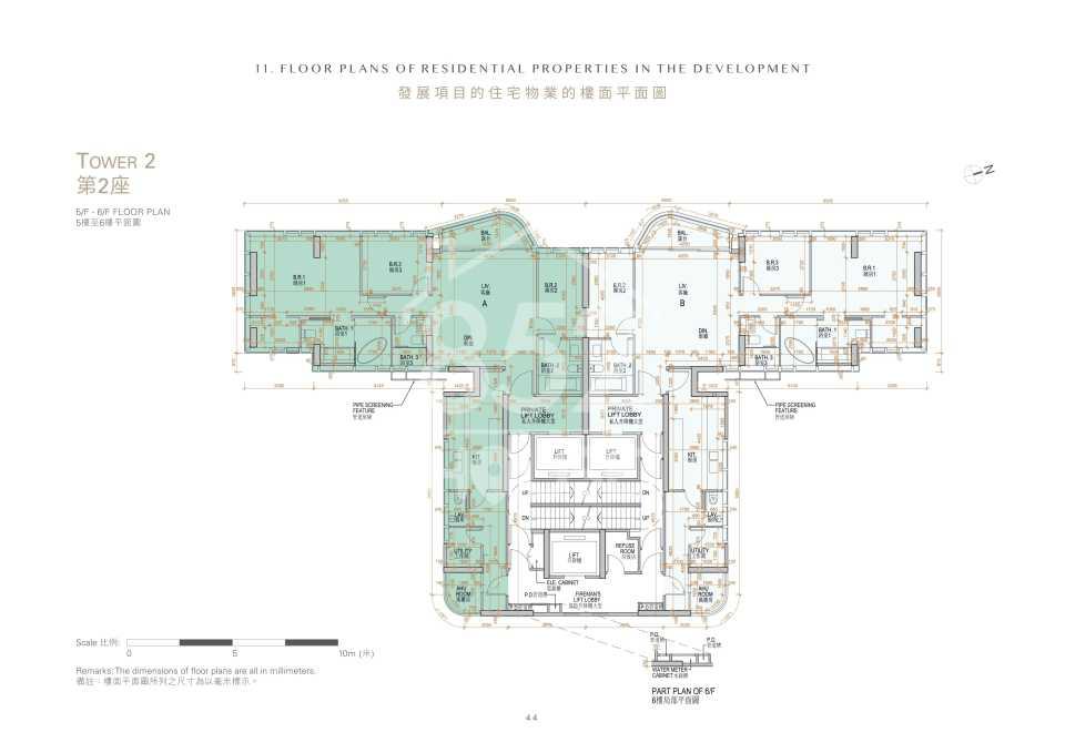 第2座5樓至6樓平面圖