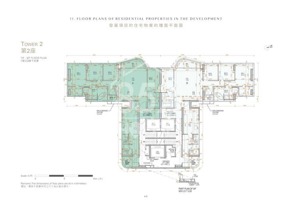 第2座7樓至9樓平面圖