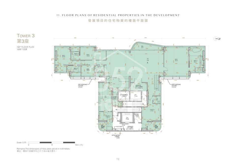 第3座16樓平面圖