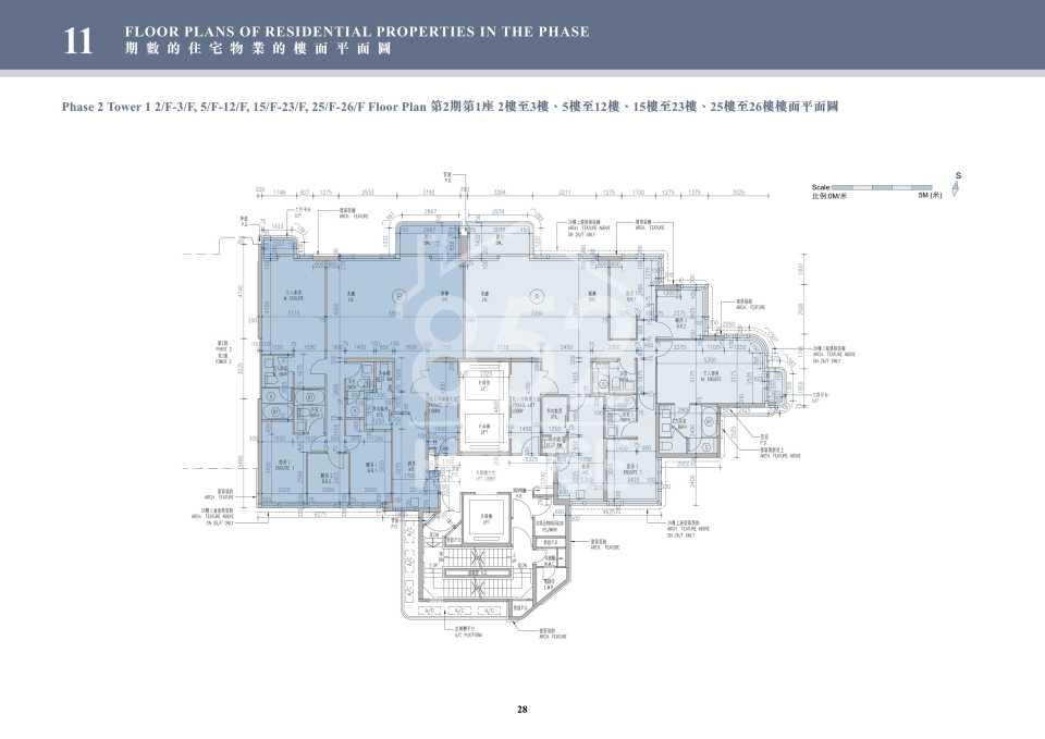 2期1座2-26樓平面圖