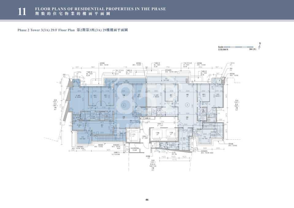 2期3A座29樓平面圖
