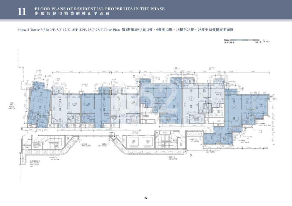 2期3B座3-28樓平面圖