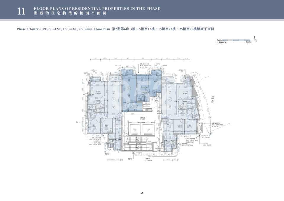 2期6座3-28樓平面圖